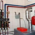 монтаж отопления в загородном доме